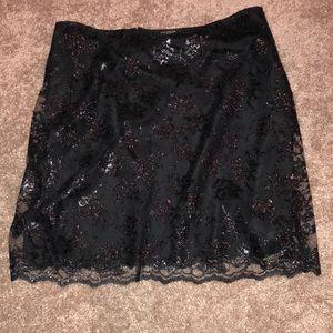 Floral Detailed Ann Taylor Skirt